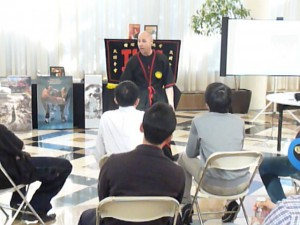 Photo - Sifu Jason Bolanz from Dallas, Texas giving a Wing Tsun kung fu workshop for the Good News Corps and International Youth Fellowship