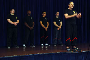 Photo: Sifu Will Parker and his demo team gave a WingTsun demo for the 470th Military Intelligence Brigade to celebrate Asian Pacific Heritage Observance
